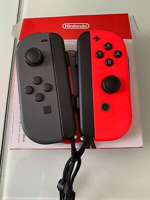 *AS IS* Nintendo Switch Joy-Cons Grey And Red - Red Turns On - Read