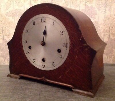 Antique Enfield Clock 3 Train Westminster Chiming Untested For Repair 27x21x15cm
