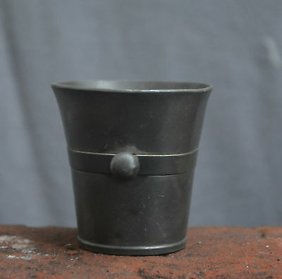 Nice Antique pewter smal mortar with a Angel pewter mark 18th. 19th. century