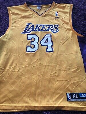 238c0198f25 SHAQUILLE ONEAL LOS Angeles Lakers Reebok Basketball Jersey XL Shaq ...