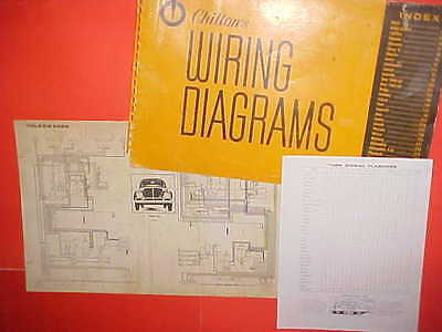1960 1961 1962 1963 1964 1965 vw volkswagen karmann ghia beetle wiring  diagrams
