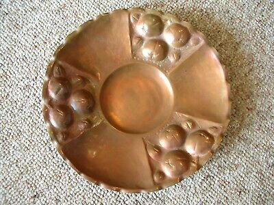 GORGEOUS   Arts & Crafts Hammered Copper Plate