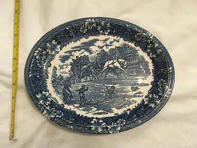 "Grindley Staffordshire 11"" oval plate"
