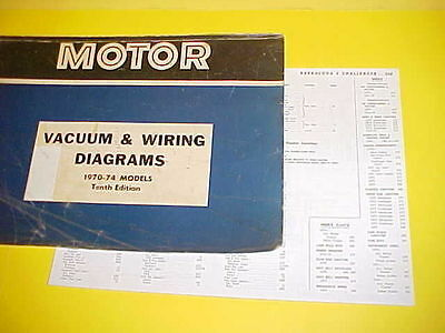1970 1971 1972 1973 1974 plymouth barracuda cuda 340 360 vacuum+wiring  diagrams
