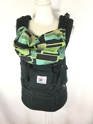 301a78bde14 ERGOBABY Dark Blue   Geometric Print Adj Padded Straps Baby Carrier 15-40lbs