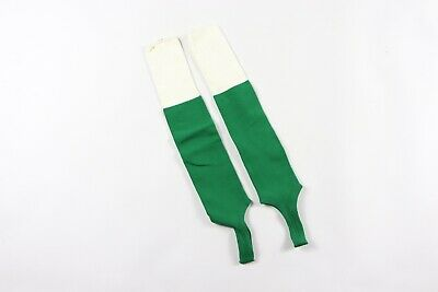 Vintage 80s Twin City's Youth Nylon Stirrup Sport Socks Soccer Socks Green White