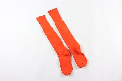Vintage 80s Sarna Youth Nylon Running Jogging Soccer Tall Socks Orange
