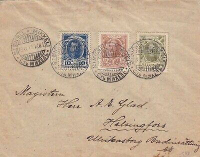 RUSSIA  FINLAND 1917  cover st. from ST.MICHEL to Finland