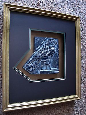 Beautiful Shadow Box Framed Egyptian Amulet Of Horus In Falcon Form