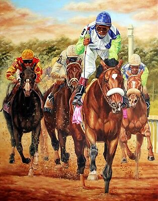 Barbaro Dominates in The Derby Horse Racing Framed LE Giclee Print Tom Chapman