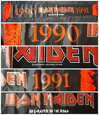 Iron Maiden Original Official Vintage Scarf No Prayer Tour 1990-91. Rare