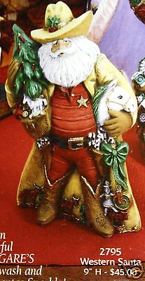 Ceramic Bisque Western Santa from Gare Mold 2795 U-Paint Ready To Paint