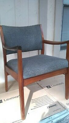 Mid Century Danish Modern Johnson Design 4 Gunlocke Lounge Chair Slope Armchair