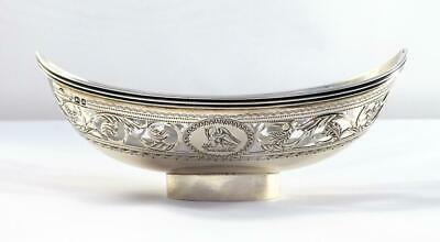 ANTIQUE GEORGE III 1796 WILLIAM PITTS STERLING SILVER EPERGNE BASKET/DISH - 73g