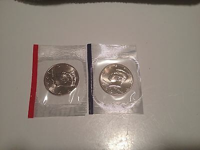 2001 P D Kennedy Half Dollars US Mint Cello BU Coins Uncirculated