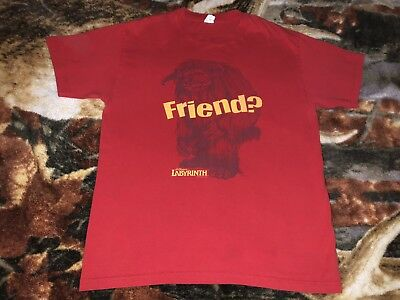 6fb8777a3 LABYRINTH LUDO FRIEND T Shirt Large Red David Bowie Jim Henson Movie Tee  W:21