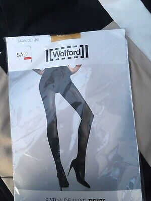 811a6ccd9ae NEW WOLFORD SATIN De Luxe Gold Tights. Medium (Uk 10 12) -  72.85 ...