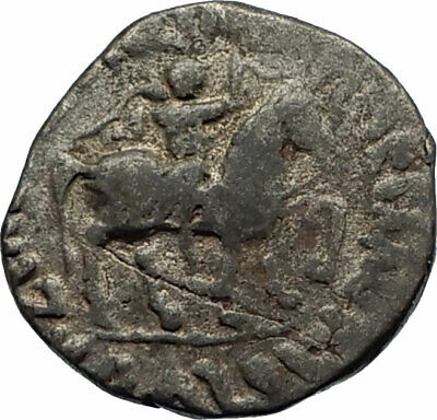 JESUS CHRIST Birth Magii Azes II on Horse 35BC Ancient Silver Greek Coin i75556