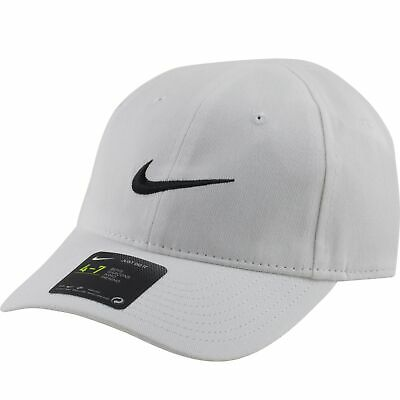 c9f9ba3660d Nike White Youth Boys Baseball Cap Hat Size 4-7