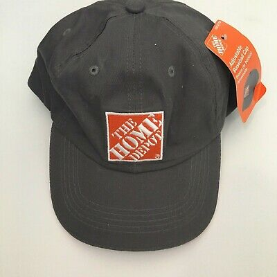 NEW Home Depot Dad Hat Grey Orange Logo Baseball Cap Hardware Store Fathers Day