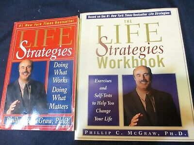LOT OF 5 Dr Phil Books The Life Strategies Book & Workbook