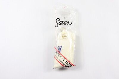 Vintage 80s New Sarna Youth Nylon Running Soccer Sport Hose Socks White Blue