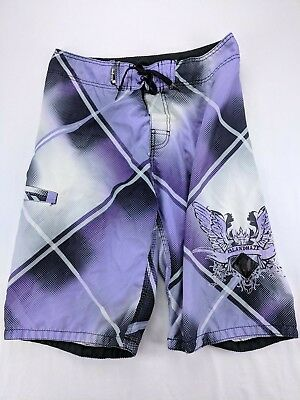 2554f85f47 Mens Island Haze Board shorts Size 32 Medium Summer Shorts Trunks Zara  Purple