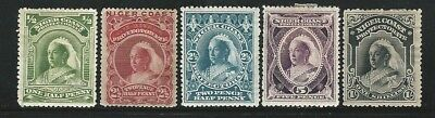 Niger Coast: Sc 40,43,46,47,48, Queen Victoria, 1 value with ADH of paper. NGR09