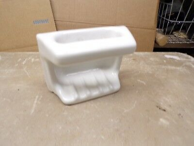 Old White Porcelain Ceramic Bath Tub Wall Mount Soap Disn