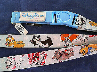 Disney Parks * CATS & DOGS * Reversible Pin Trading Lanyard w Detachable Section