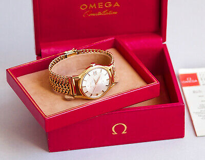 Omega Constellation Pie Pan 1966 Vintage 18K Gold 168.005 Box & Papers Near Mint