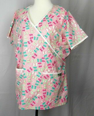 c6746bb4690 RMF SCRUBS HEART And Butterfly Scrub Top Valentines Large New ...