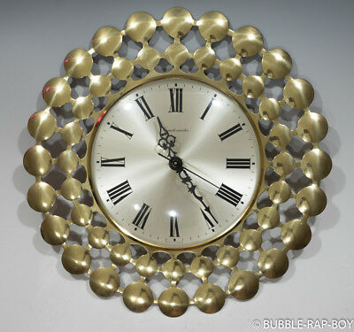 VINTAGE METAL 1970's GERMAN STAR BURST STYLE WALL QUARTZ  MASTER CLOCK