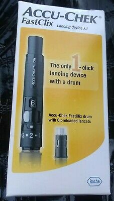 Accu-Chek FastClix Lancing Device Kit NEW Sealed 09/2022