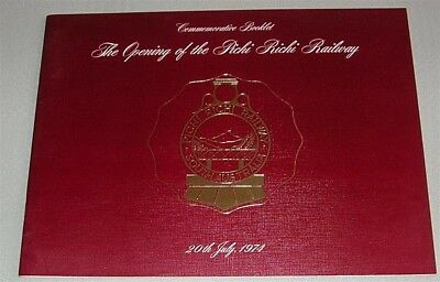 Opening of the Pichi Richi Rly, 1974, Commemorative Booklet, Sth Aust, SC book