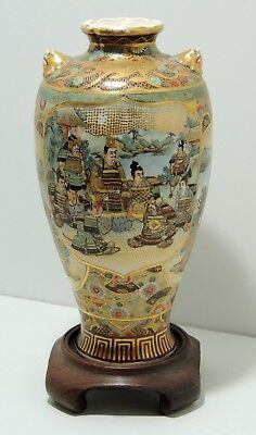 Antique Japanese Satsuma Vase - Late Edo - Early Meiji Period
