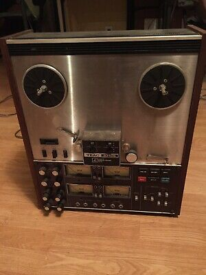 TEAC A-3340S Stereo or 4-track Reel-to-Reel Tape Recorder Simul-sync Untested