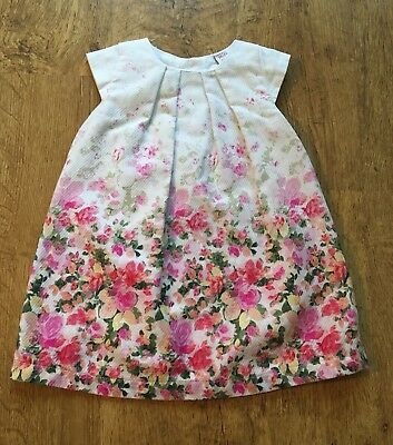 Mini Club Boots ~ Baby Girls Floral Dress ~ Age 9-12 Months