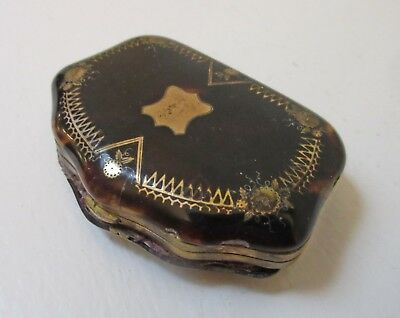 Antique Victorian Faux Tortoiseshell Pique Purse