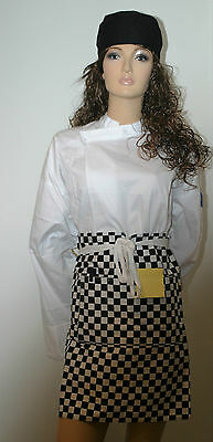 6 x Chefs Black / White Checkered Apron