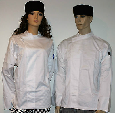 1 x white chefs jacket pullover With pen pocket unisex male or female
