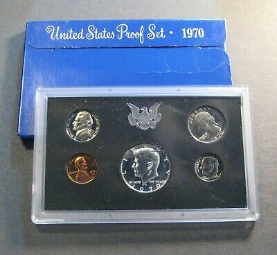 1970  U.S. MINT PROOF COIN SET - * Free Shipping Deal ! * (S686)