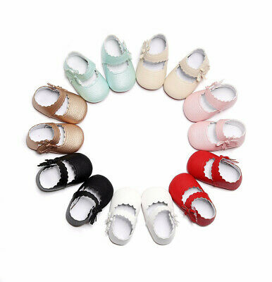 Baby Toddler Newborn Girls Pram Soft Soled Wave Bow Crib Shoes Infant anti-slip