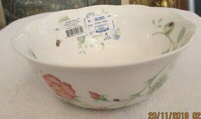 """New Lenox Butterfly Meadow by Louise Le Luyer All Purpose Bowl 7"""""""