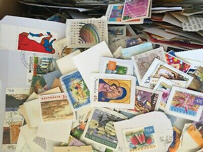 Australian Stamps mixed 40 45 50 55 60 65 70 80 $1 CHEAP CHEAP Kiloware 10 kg