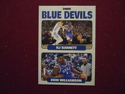 Zion Williamson RJ Barrett Duke Blue Devils Dual Rookie Card