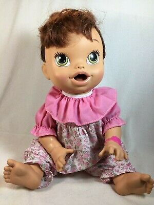 BABY ALIVE 2013 Hasbro Doll Brunette BABY ALL GONE - Speaks Works Interactive