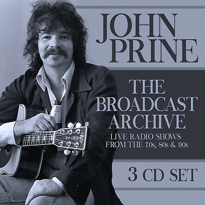 JOHN PRINE New Sealed 2019 LIVE 1970s, 80s, 90s CONCERTS 3 CD BOXSET