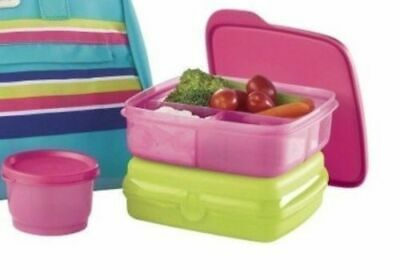 NEW Tupperware 3 pc Lunch Set - Sandwich Keeper, Snack Cup, and Lunch It