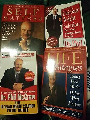 DR  PHIL MCGRAW Lot Of 4 Self Help Books Relationship Self